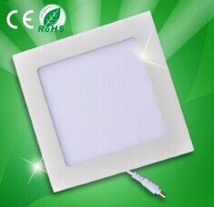 LED panel light recessed